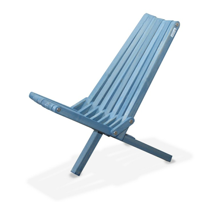 silla playa plegable azul cielo