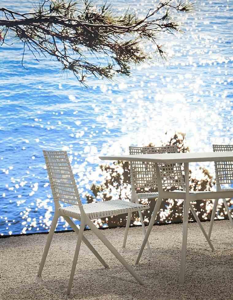 sillas blancas coleccion elegante estilo moderna casual