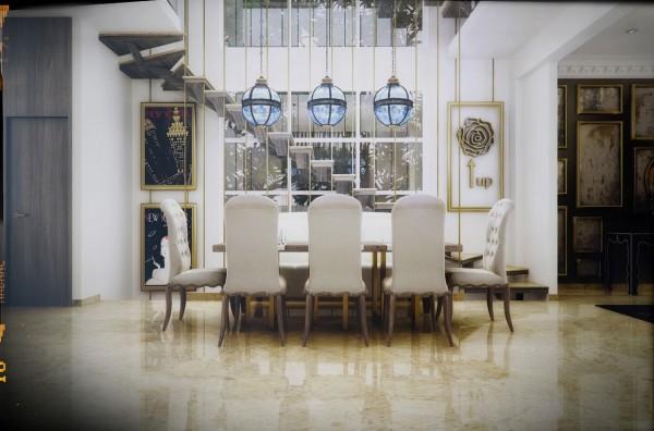 sillas blancas estilo clásico señorial