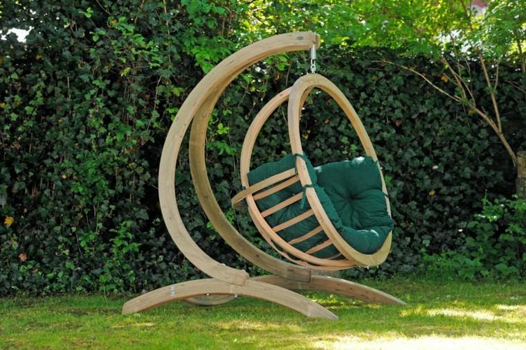 sillas colgantes madera pie resistentes tiempo