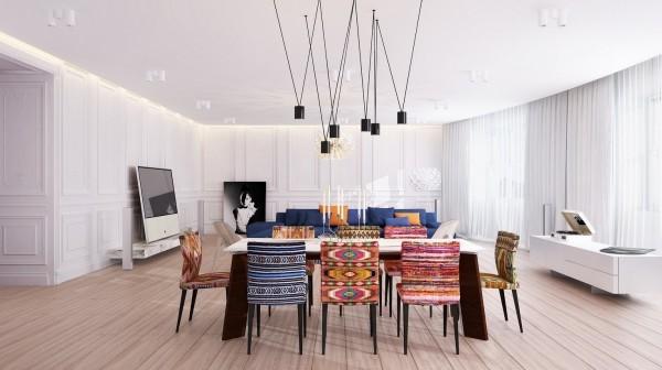 sillas colores etno latino tapizados