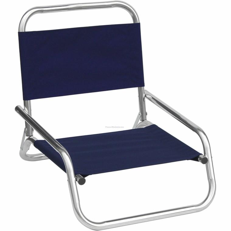 sillas de playa aluminio baja azul barata