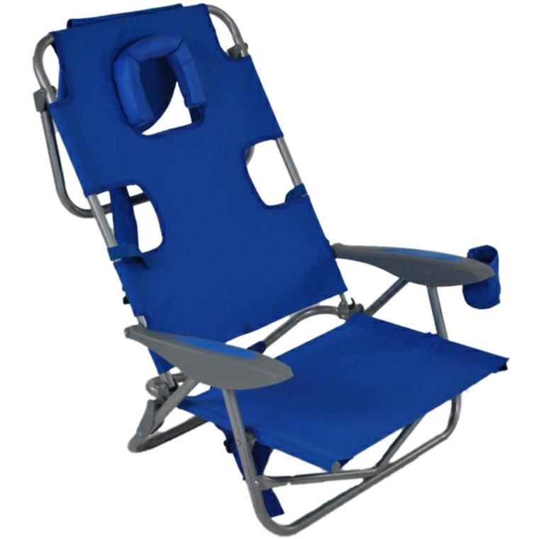 sillas de playa aluminio mochila plegable soporte vasos