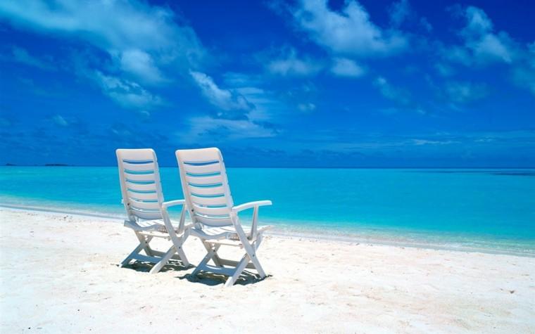 sillas de playa plastico blancas ligeras