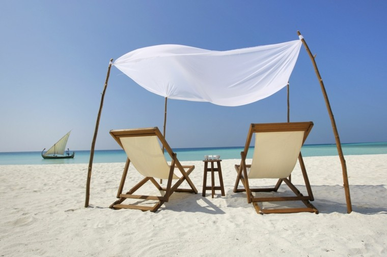 sillas de playa plegables mesa madera acampada