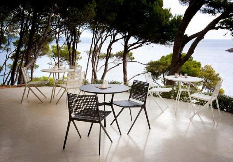 sillas mesas organicas elegantes diseño blanco ideas negro