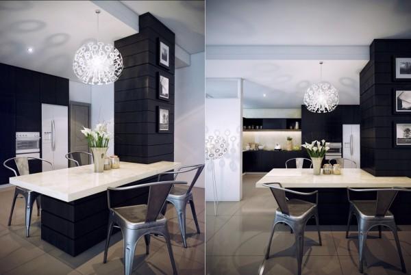 Mesas de cocina o comedor de dise o moderno tendencias - Sillas plasticas baratas ...