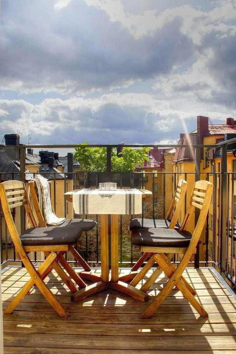 sillas plegables madera moderna terrazas ideas