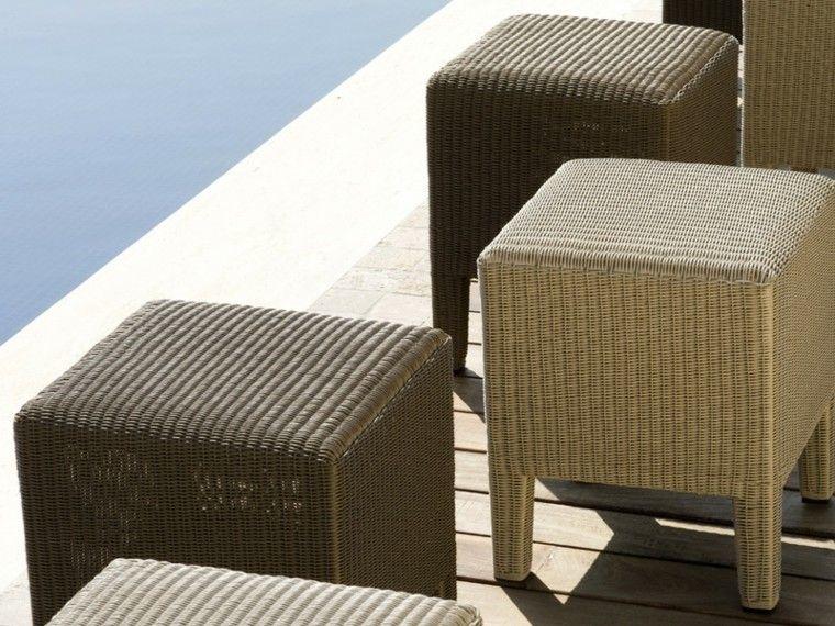 sillas taburetes exterior piscina moderno