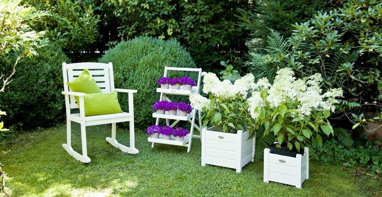 sillon balanceante jardin cojin cesped ideas moderno