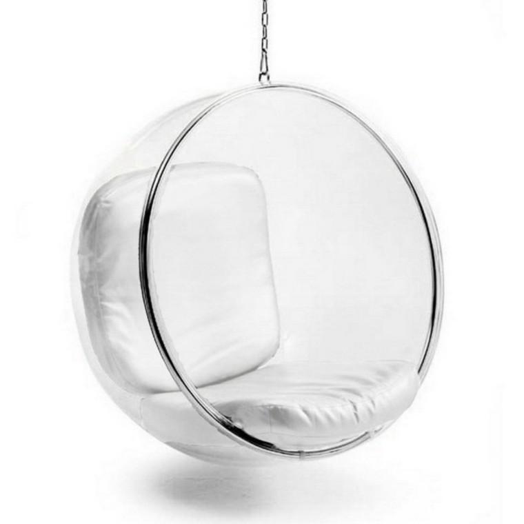 sillon colgante jardin burbuja plastico ideas modernas