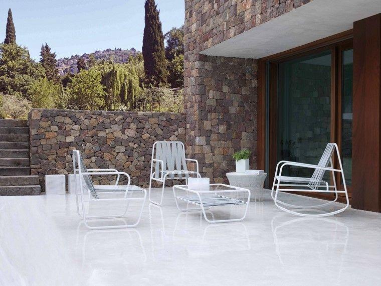 sillon elegante blanco estilo moderno diseño