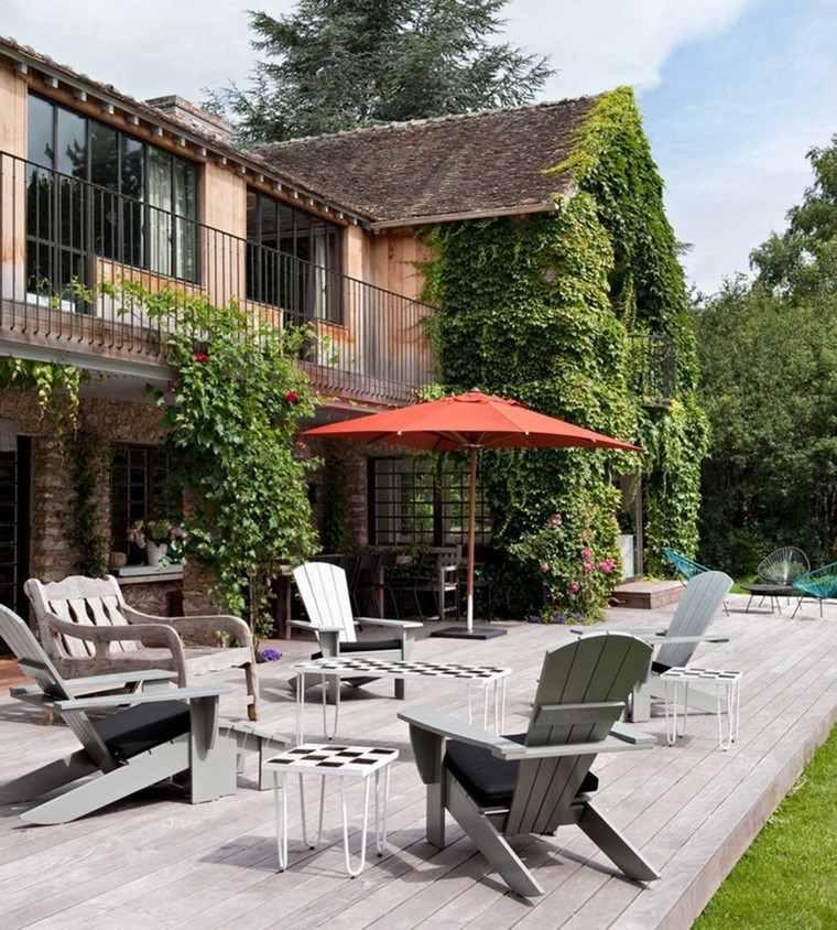 sillón relax madera teca comodos ideas jardin