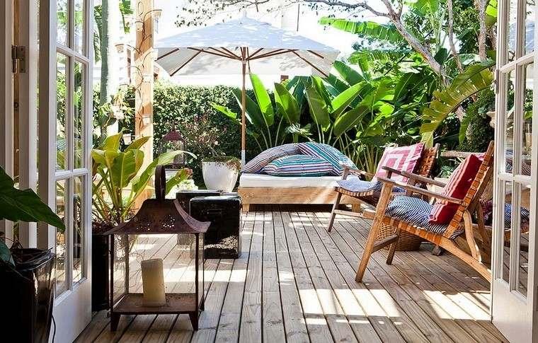 sillón relax madera teca ideas terraza estilo colores