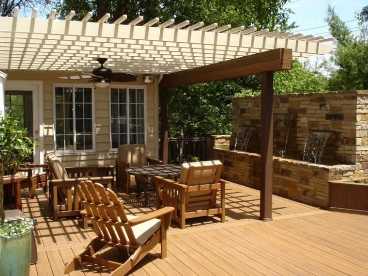 sillón relaxmadera teca resistente pergola jardin ideas