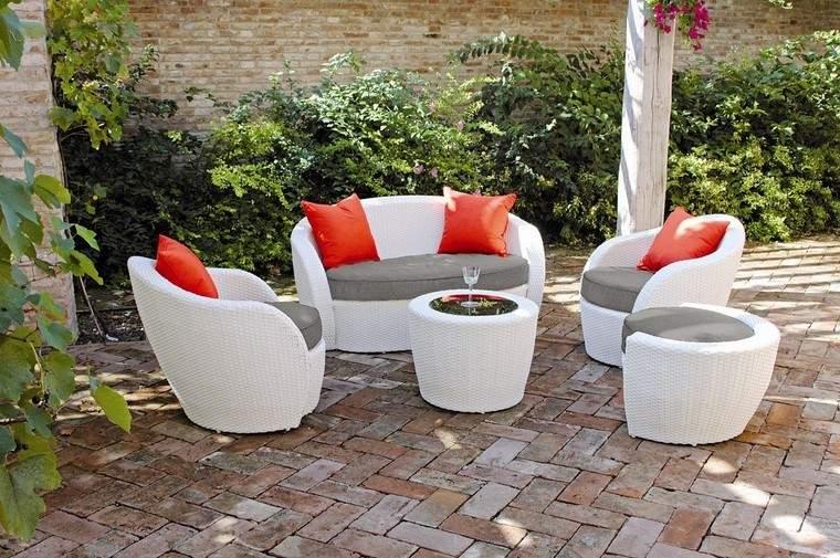 Sill n relax para los jardines con dise o original - Cojines para sillones de terraza ...