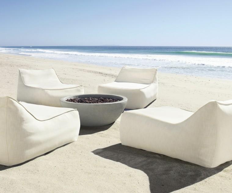 sillones camas playa pozo fuego
