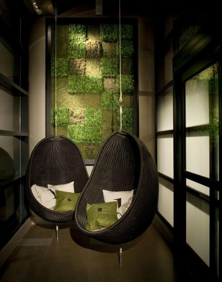 sillones colgantes interior exterior ideas modernas