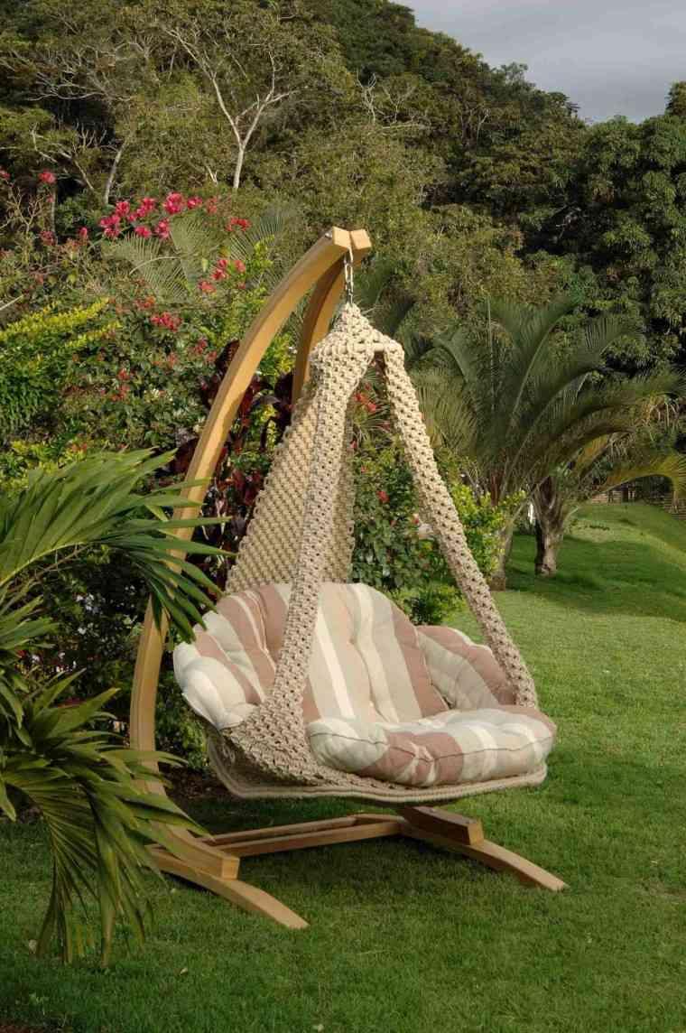 Sillones colgantes de jard n terraza o patio for Ideas para el jardin reciclando