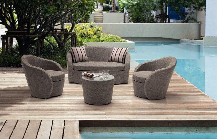 Sill n relax para los jardines con dise o original for Sillones grandes y comodos