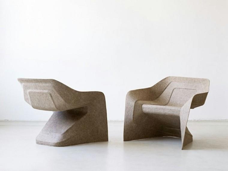 sillones reciclados muy modernos color beige