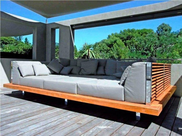 sofá cama gris grande