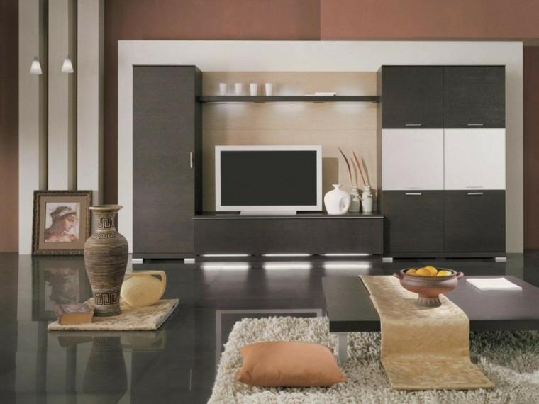 sofa cuadro jarron grises muebles