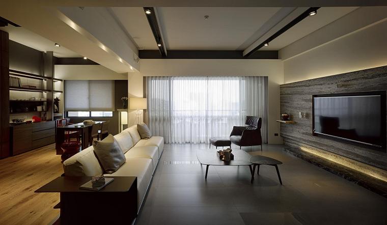 sofa grande cuero blanco comoda diseño moderna