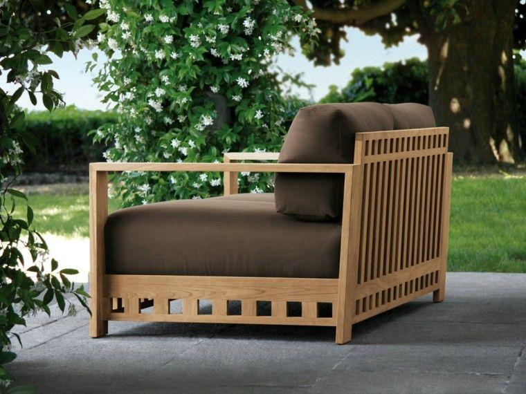 sofa moderno maderas teca marrón