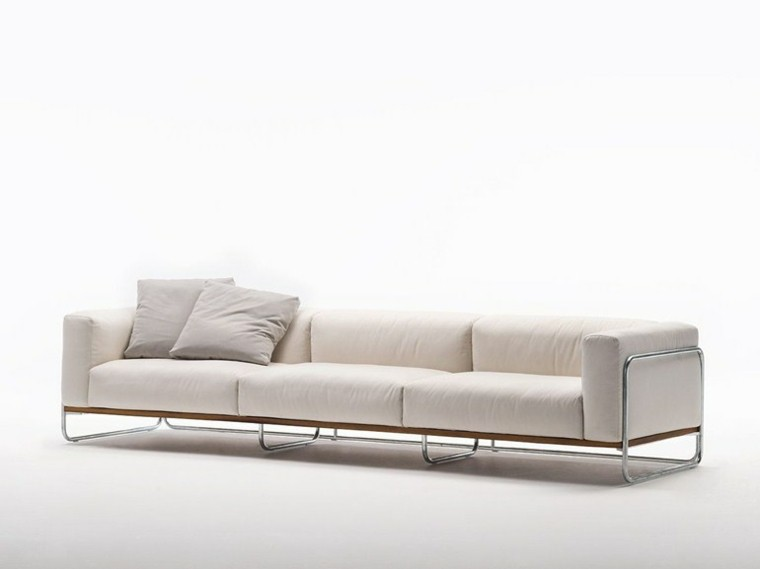 sofas blancos firma living divani