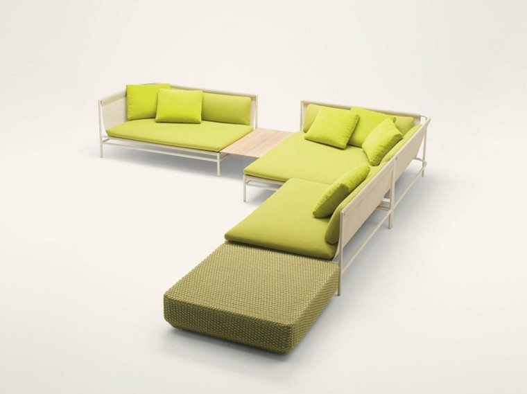 sofas modernos jardin verde pistacho