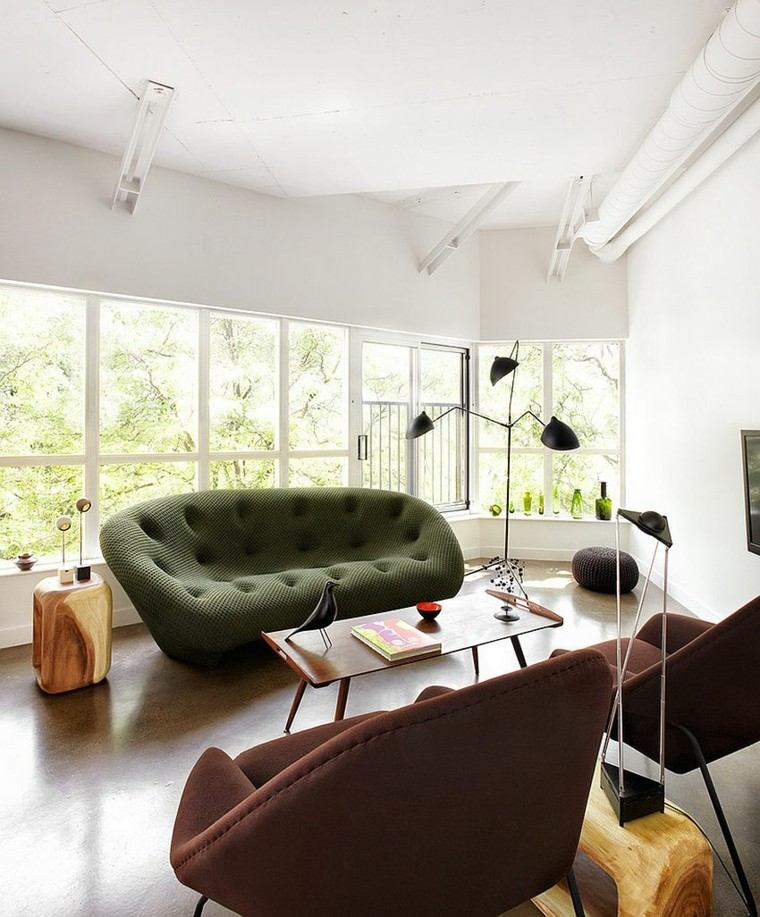 sofas modernos mesa lamparas creativo