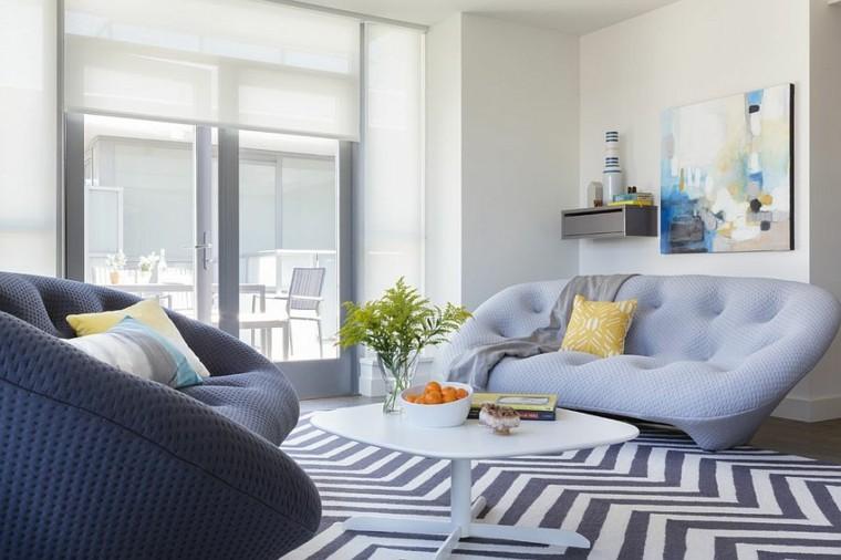sofas modernos salon casa cojines plantas