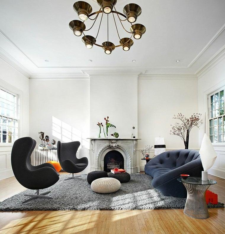 sofas modernos salon casa lampara