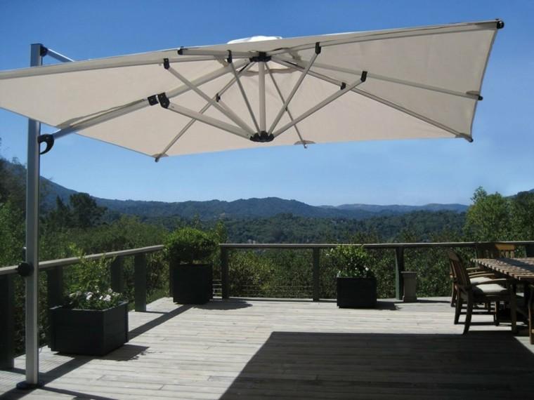 Sombrillas jard n para los d as soleados de verano - Sombrilla de terraza ...