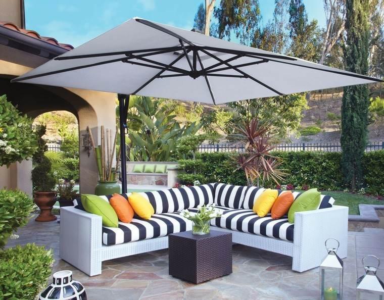 sombrilla forma rectangular grande muebles comodos