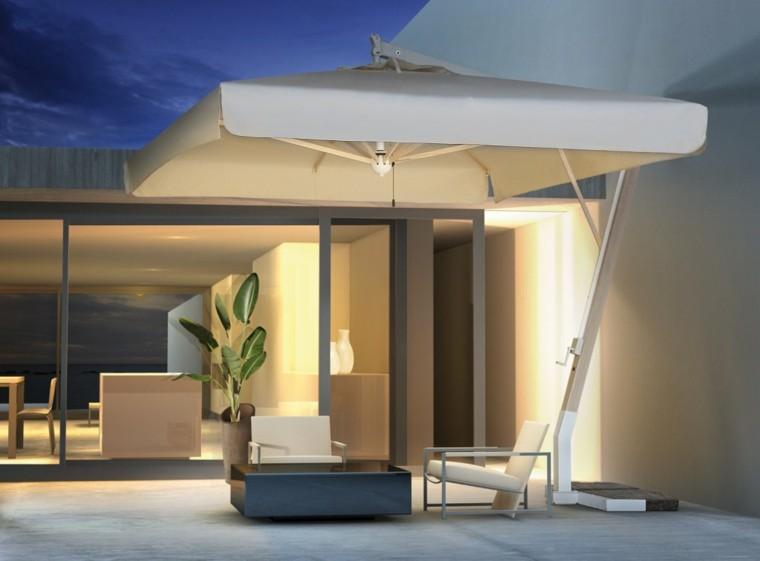sombrilla jardin blanca grande soluciones aire libre moderna