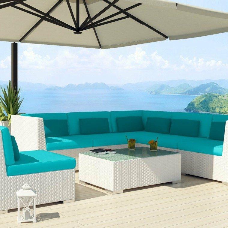 sombrilla patio terraza playa aluminio