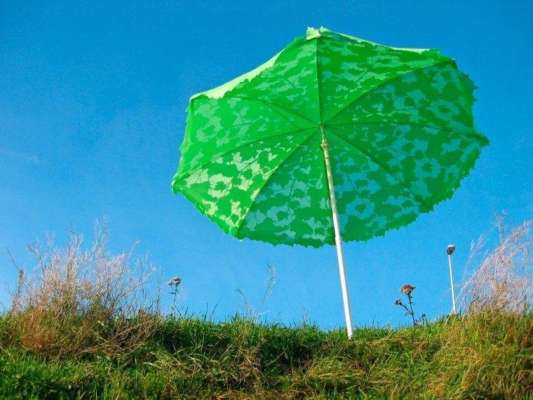 sombrilla verde hojas arbol