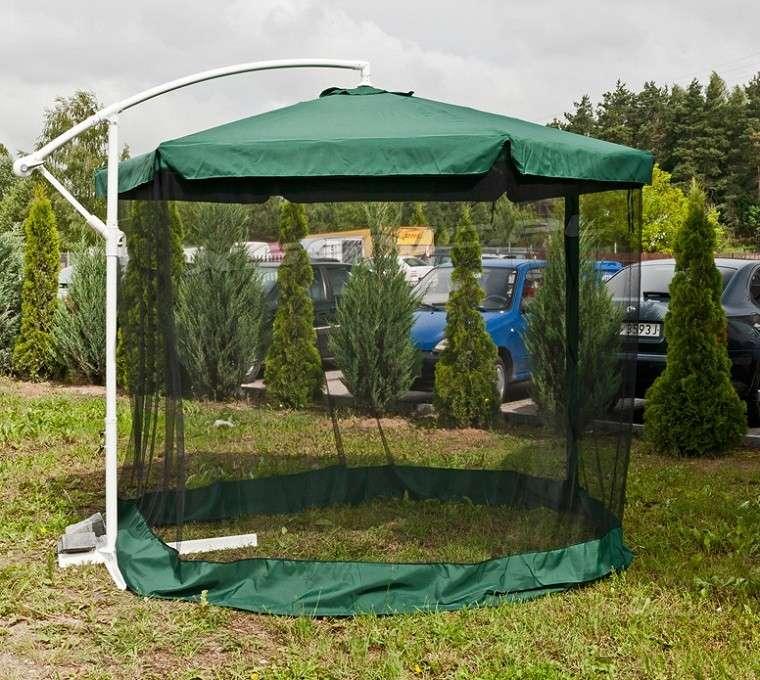 sombrilla verde oscura mosquitera