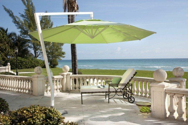 sombrilla jardín verde ideas vistas oceano moderna bonita