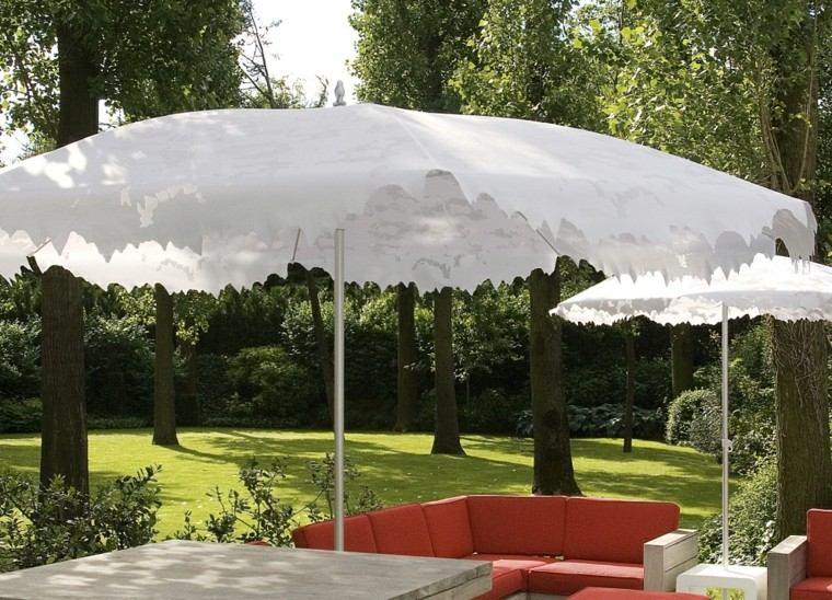 sombrillas bonitas blancas recortadas