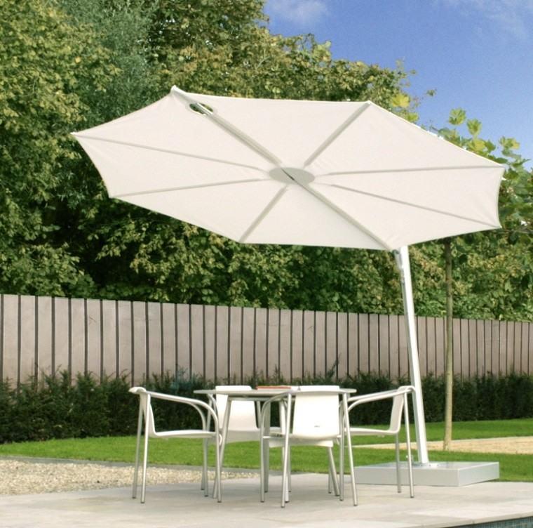 Parasoles jardin sombras refrescantes para el verano - Parasoles para jardin ...