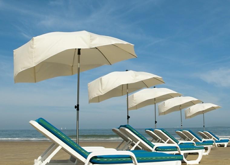 sombrillas playa forma moderna resguarda viento