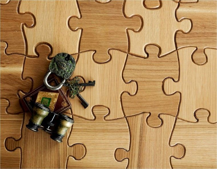 suelo madera puzle idea original moderna diseno