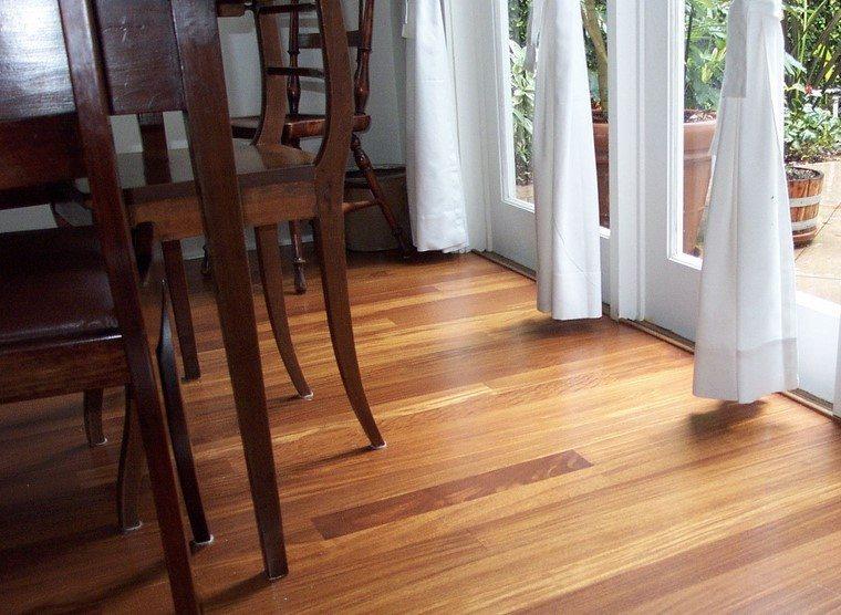 suelos de madera ideas comedor original moderno
