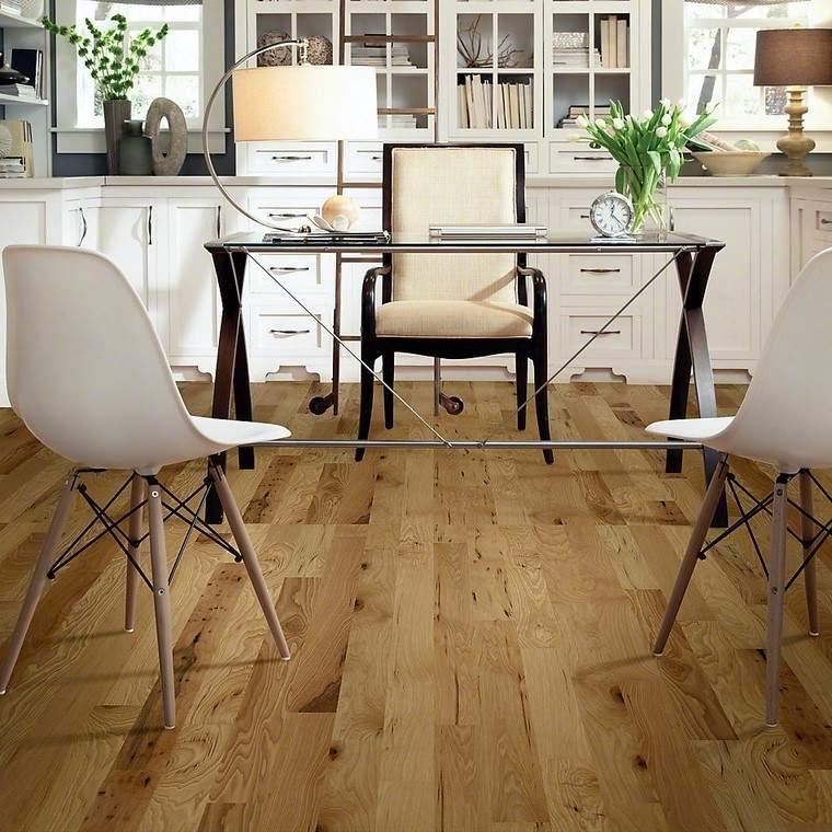 suelos de madera oficina color claro moderno