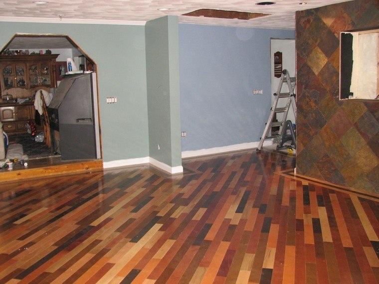 suelos de madera opciones combinar color ideas