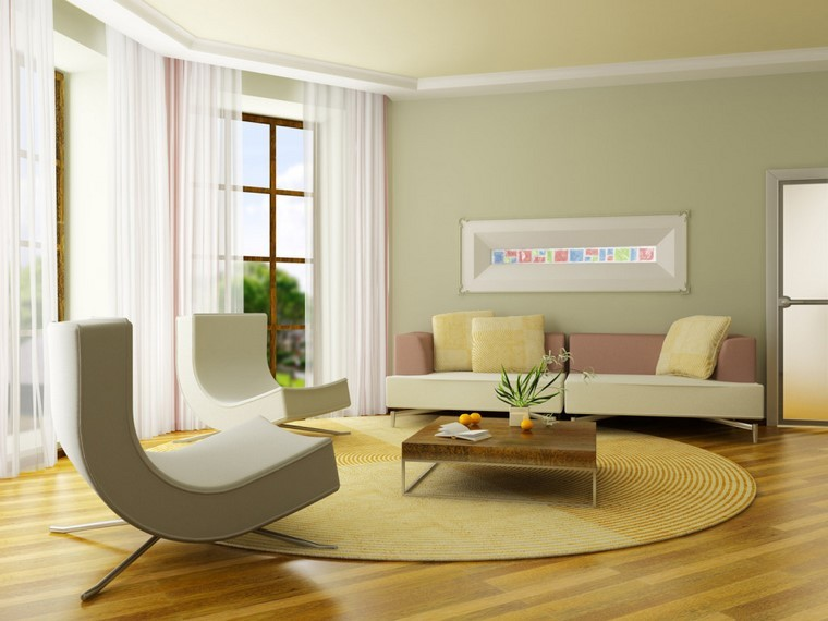 suelos de madera salon moderno ideas casa