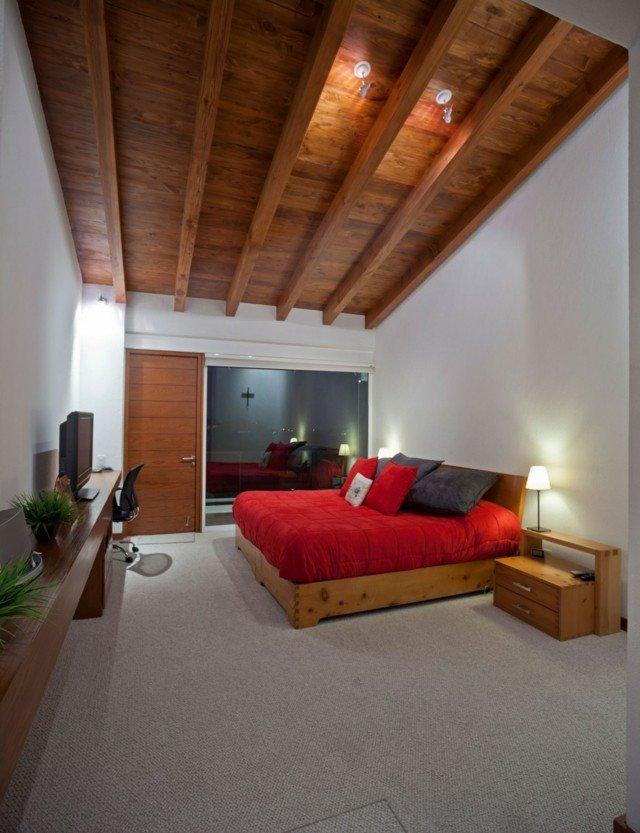 techo de madera alto diseño bonito marron